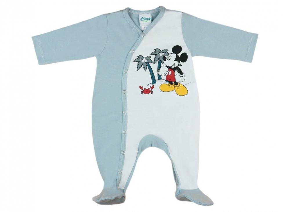Disney Mickey végig patentos hosszú ujjú vékony rugdalózó - Babaruha ... 70e81fef88