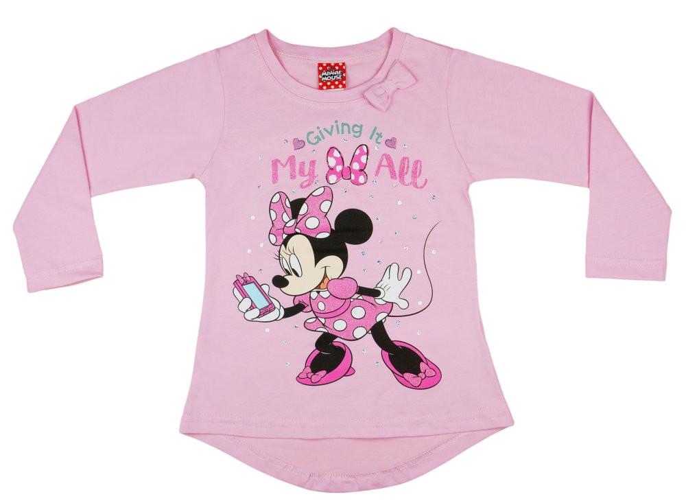 20d6549085 Disney Minnie lányka hosszított fazonú hosszú ujjú póló flitterrel