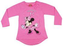 Disney Minnie lányka hosszított fazonú hosszú ujjú póló flitterrel