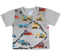Fiú rövid ujjú póló markoló mintákkal