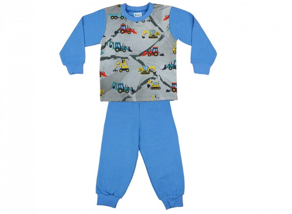 3464a5fe90 Markoló mintás fiú hosszú pizsama