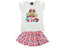Disney Minnie lányka 2 részes virágos szoknyás szett