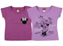 Disney Minnie rövid ujjú lányka póló 2db szettben
