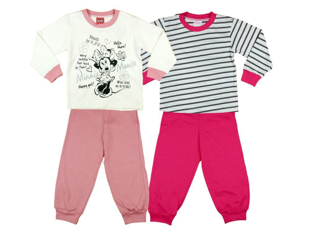 3c58b176f8 Disney Minnie lányka páros hosszú pizsama szett (2db)