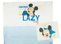 Disney Mickey fiú 2 részes ágynemű szett  csíkos betéttel