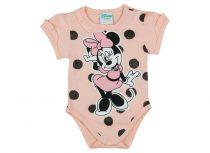 Disney Minnie lányka rövid ujjú kombidressz pöttyös