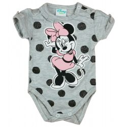 Disney Minnie pöttyös-csillámos rövid ujjú baba body