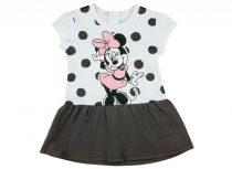 Disney Minnie glitteres, pöttyös rövid ujjú lányka ruha