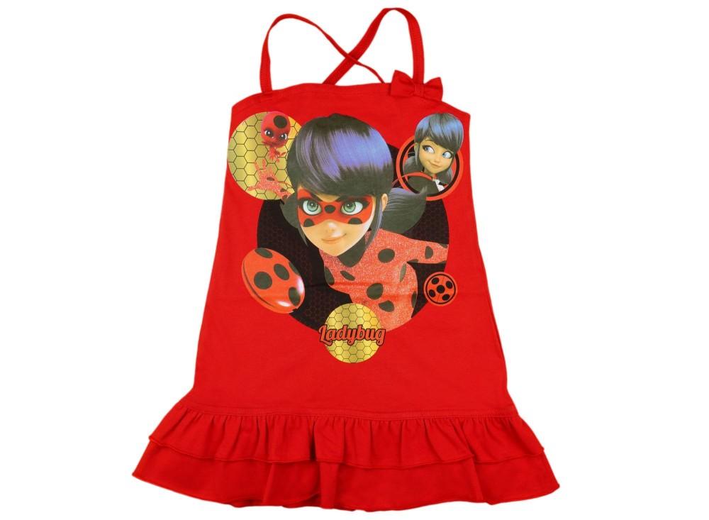 25ad715220 Miraculous Katicabogár lányka keresztpántos ruha .
