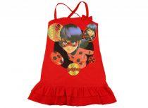 Miraculous Katicabogár lányka keresztpántos ruha