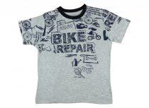 Fiú rövid ujjú póló Bike repair felirattal
