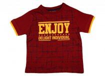 Fiú rövid ujjú póló Enjoy felirattal