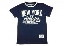 Fiú rövid ujjú póló New York felirattal