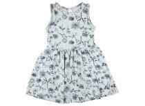 Lányka ujjatlan kék mintás nyári ruha