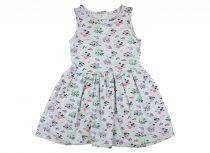 Lányka ujjatlan pink mintás nyári ruha