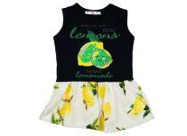 Lányka nyári ujjatlan ruha citrom