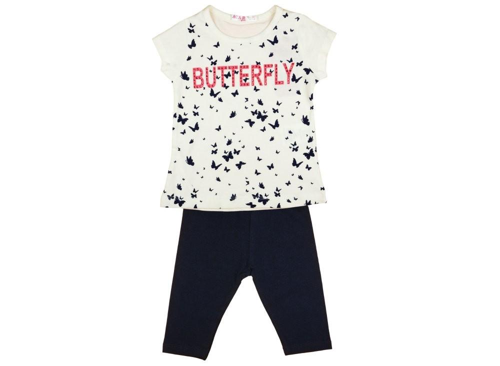 48b73a8467 Lányka 2 részes póló/leggings pillangós szett - Babaruha ...