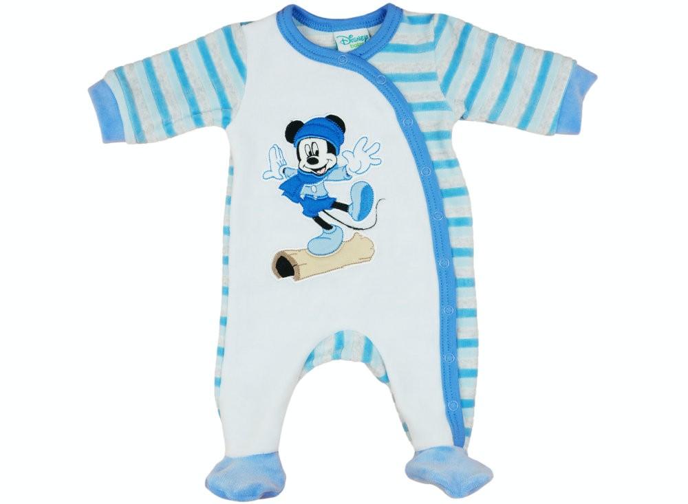 Disney Mickey fiú hosszú ujjú plüss rugdalózó elöl patentos 7748137830