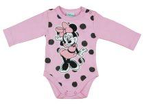 Disney Minnie lányka hoszzú ujjú kombidressz pöttyös