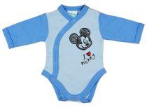 Disney Mickey fiú hosszú ujjú kombidressz elöl patentos