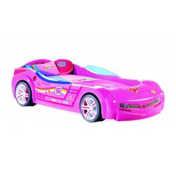 Cilek BITURBO autós ágy - rózsaszín (90x195 cm)