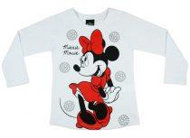 Disney Minnie lányka hosszú ujjú póló piros glitter
