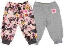 Lányka szabadidő nadrág páros szettben (2 db)