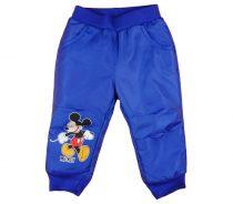 Disney Mickey fiú vízlepergetős, bélelt nadrág
