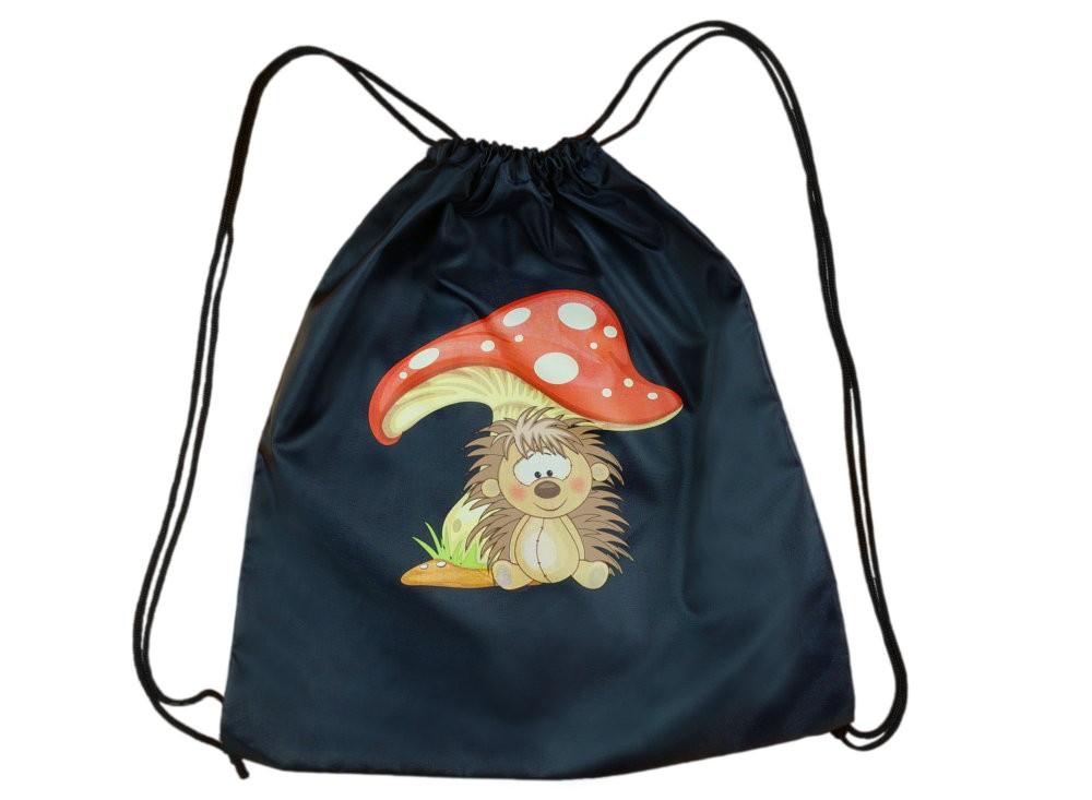 194357d8368e Hedgehog pattern gymbag. Süni mintás tornazsák
