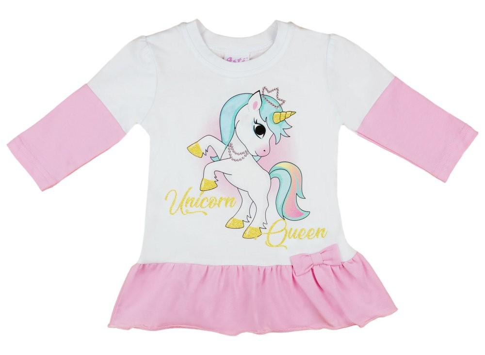 Unicorn Queen Unikornis hosszú ujjú lányka tunika b2f5c7a0fc