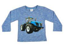 Traktor mintás fiú hosszú ujjú póló