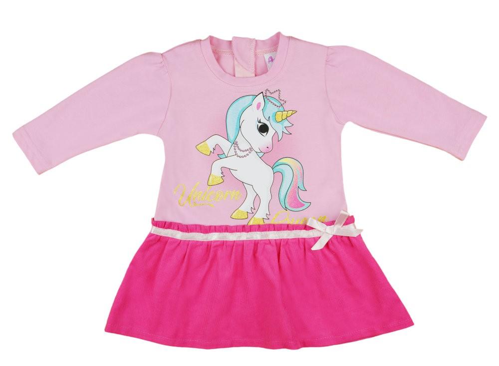 Unicorn Queen Unikornis hosszú ujjú alul kord lányka ruha 459a3c6b5f