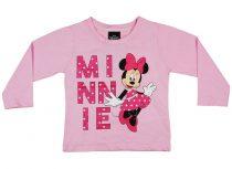 Disney Minnie glitteres, lányka hosszú ujjú póló