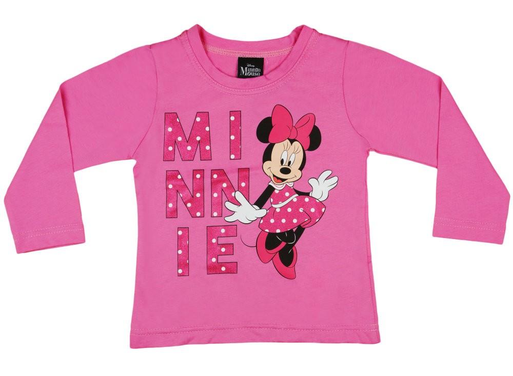02ec7f741f Disney Minnie glitteres, lányka hosszú ujjú póló