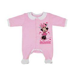 Disney Minnie elöl patentos hosszú ujjú rugdalózó