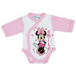 Disney Minnie lányka elöl patentos hosszú ujjú kom