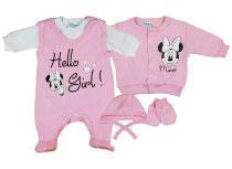 Disney Minnie lány újszülött 5 részes szett Hello Girl!