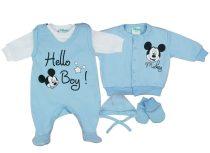 Disney Mickey fiú újszülött 5 részes szett Hello Boy!