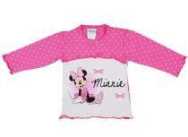 Disney Minnie lányka pöttyös hosszú ujjú póló