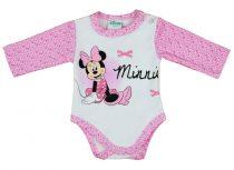 Disney Minnie lányka hosszú ujjú kombidressz pöttyös ujjú