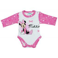 Disney Minnie lányka hosszú ujjú kombidressz pötty