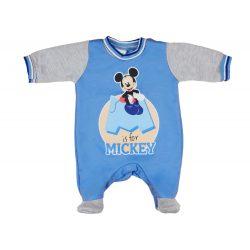 Disney Mickey belül bolyhos, hosszú ujjú rugdalózó