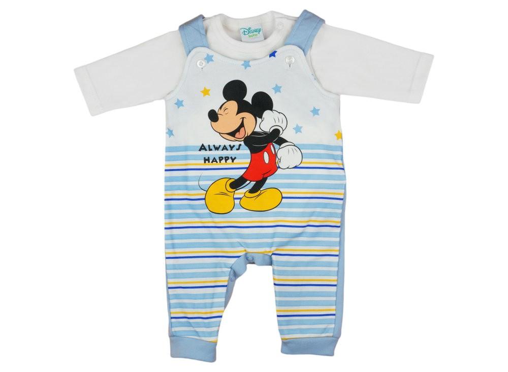 775d85d40d Disney Mickey csíkos, csillagos 2 részes kertész rugdalózó/ hosszú ujjú  kombidressz szett