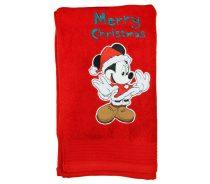 Disney Minnie hímzett frottír törölköző Karácsony