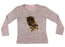 Lányka pulóver átsimítós flitteres Bagoly (TUR)