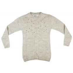 Lányka kereknyakú kötött pulóver Gyöngy (TUR)