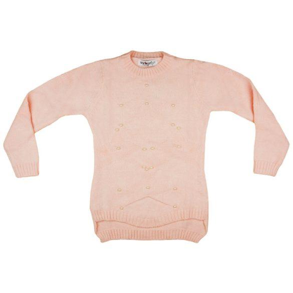 Lányka kereknyakú kötött pulóver Gyöngy (TUR) 9c8a570494