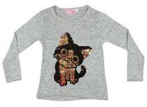 Lányka pulóver átsimítós flitteres Cica (TUR)