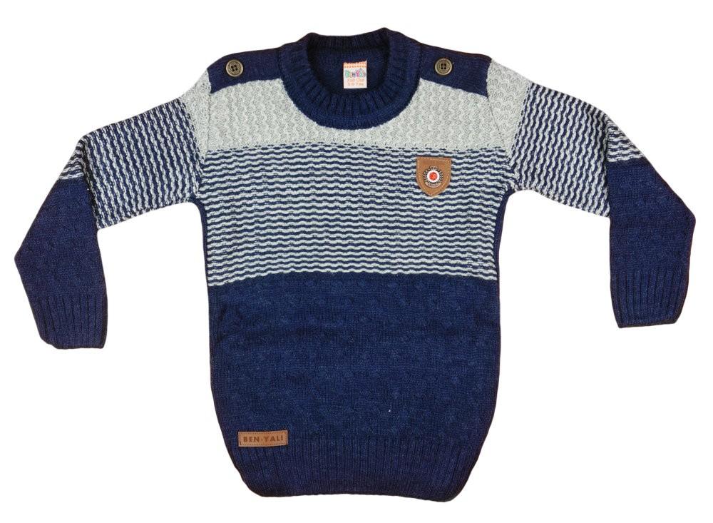 Fiú kereknyakú kötött pulóver Vállgomb (TUR) bfb0ece61d