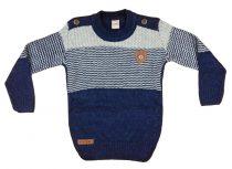Fiú kereknyakú kötött pulóver Vállgomb (TUR)